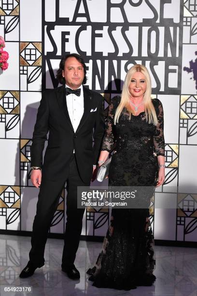 David Kane and Monika Bacardi attend the Rose Ball 2017 To Benefit The Princess Grace Foundation at Sporting MonteCarlo on March 18 2017 in...