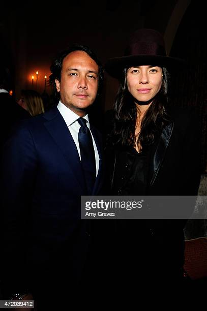 David Kane and Tasya van Ree attend the PHOTO Magazine Celebration of its Los Angeles Special Issue at the Chateau Marmont on May 2 2015 in West...
