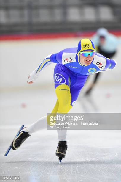 David Karlingsjo of Sweden performs during the Men 1500 Meter at the ISU Neo Senior World Cup Speed Skating at Max Aicher Arena on November 26 2017...