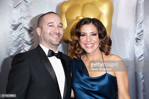 David Karp and Adriana Alberghetti of WME attend the 88th Annual Academy Awards at Hollywood Highland Center on February 28 2016 in Hollywood...