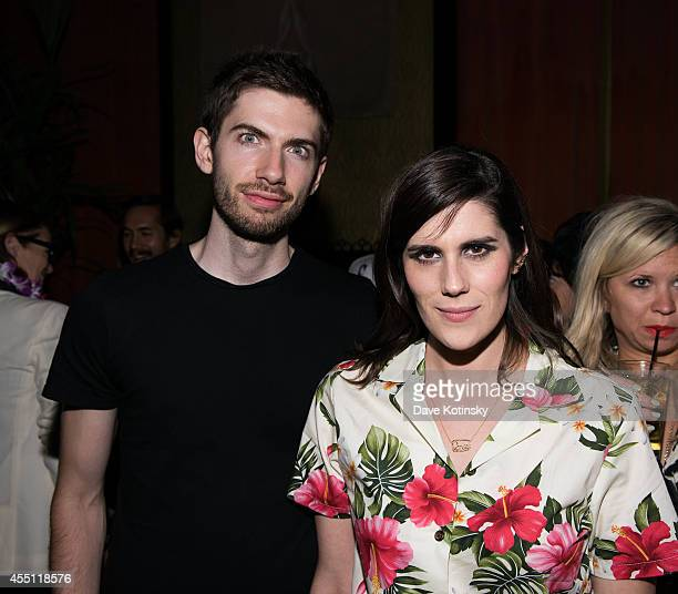 David Karp the founder and CEO of blogging platform Tumblr and Rodarte designer Laura Mulleavy attend the first Tumblr atternds the Fashion Honor...