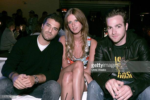 David Katzenberg Nicky Hilton and Jon Alagem during BlackBerry Curve from ATT Launch Party Inside at Regent Beverly Wilshire in Beverly Hills...