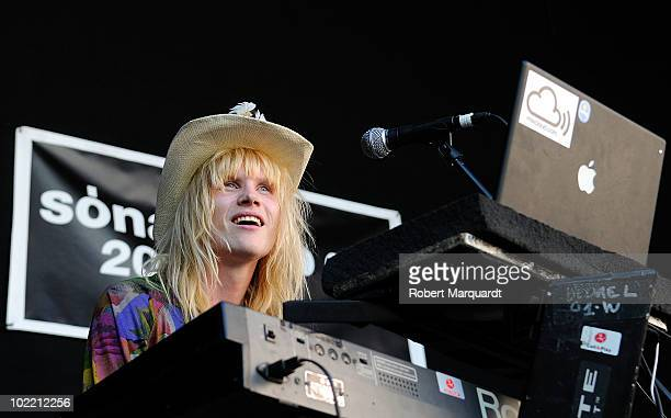 David Kay of the musical group Shake Aletti performs on stage at the 17th annual Sonar music festival on June 18 2010 in Barcelona Spain