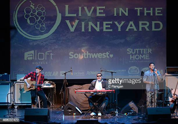 David Keiffer, Rob Griffith and Joe Griffith of Life of Dillon perform at The Uptown Theatre during Day 3 of the 2015 Live in the Vineyard Music,...