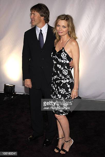 David Kelley and Michelle Pfeiffer during Giorgio Armani Receives First 'Rodeo Drive Walk Of Style' Award at Rodeo Drive in Beverly Hills California...