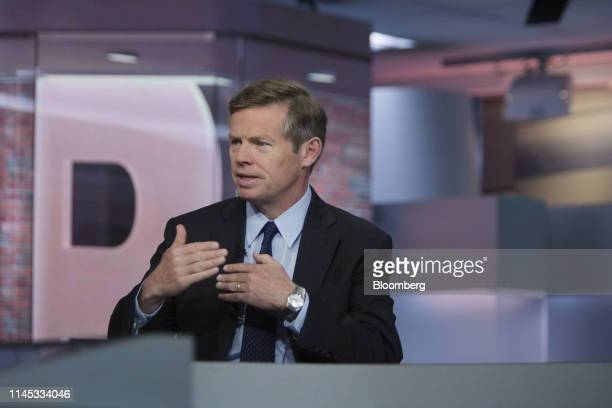 David Kelly chief global strategist of JPMorgan Funds Ltd speaks during a Bloomberg Television interview in New York US on Tuesday May 21 2019 Kelly...