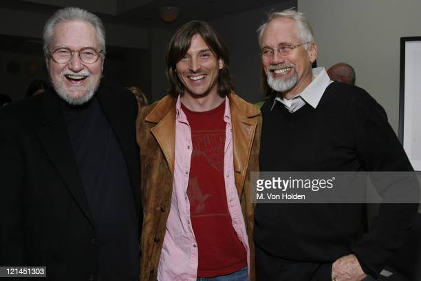 David Kennedy Alex Bogusky Dan Wieden during The One Club and Weiden and Kennedy honor ' Jim Riswold' at The Helen Mills Theatre in New York City New...