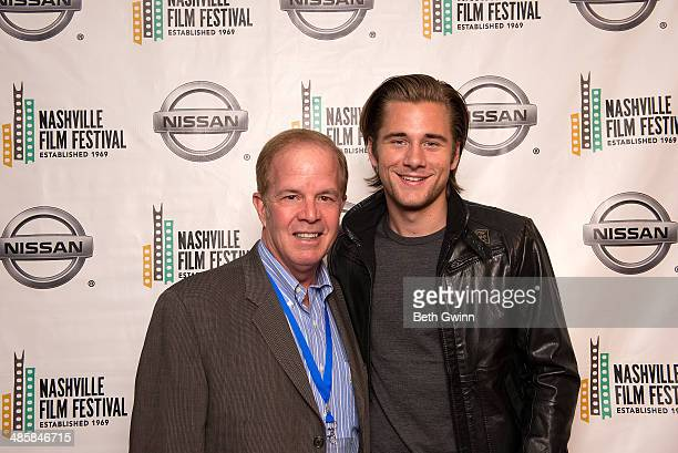 David Kennedy Producer and Luke Benward Actor for the film Field of Lost Shoes attends day 4 of the 2014 Nashville Film Festival at Regal Green Hills...