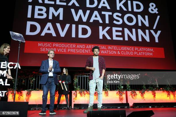 David Kenny and Alex da Kid attend the TDI Awards during the 2017 Tribeca Film Festival at Spring Studios on April 25 2017 in New York City