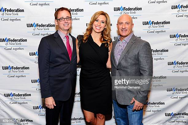 David Kenny Stephanie Abrams and Jim Cantore attend the UJAFederation's 2014 Digital Media Award Celebration at The Edison Ballroom on March 4 2014...