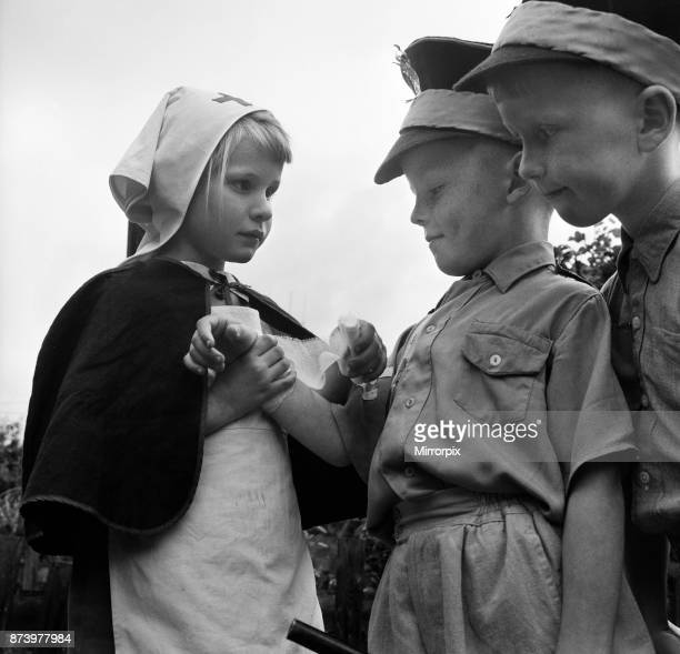 David Kilgour aged 8 who wants to be a soldier seen at his home in Mochdre Colwyn Bay with the regular members of his army They are his brother...