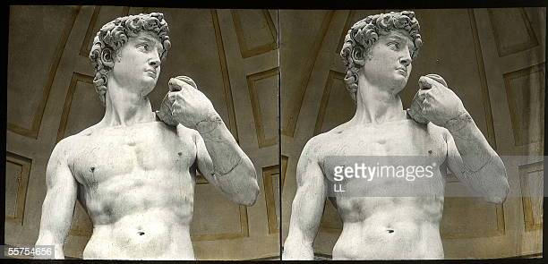 David king of Israel by Michelangelo sculptured from 1501 till 1505 Florence gallery of the Academy About 1895