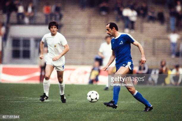 David Kipiani of Dinamo Tbilisi during the Cup Winners Cup Final between Carl Zeiss Jena and Dinamo Tbilisi at Rheinstadion Dusseldorf Germany on...