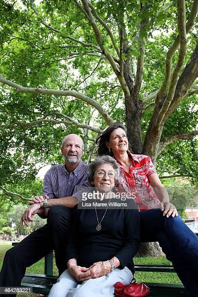 David Kirkpatrick Joy McKean and Anne Kirkpatrick pose during a press conference on January 22 2014 in Tamworth Australia The Slim Dusty Tribute...