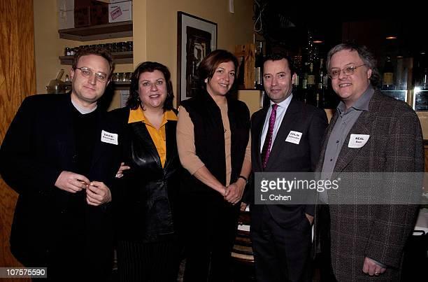 David Kissinger Gail Berman Karyn Mandabach Colin Callenda Neal Baer at the 2001 TPEC Holiday Party