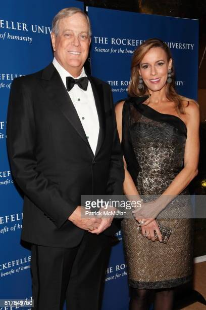 David Koch and Julia Koch attend The Rockefeller University Hospital Centennial Celebration at The Rockefeller University on October 7 2010 in New...