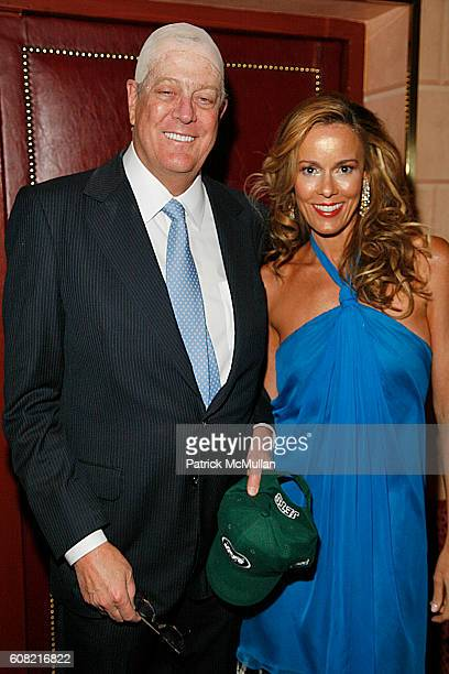David Koch and Julia Koch attend WOODY JOHNSON's Wig Out 60th Birthday Party at Doubles on April 12 2007 in New York City