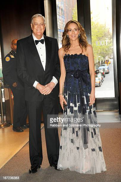 David Koch and Julia Koch attends the 6th annual Society of Memorial SloanKettering Cancer Center Spring Ball at the Metropolitan Museum of Art on...