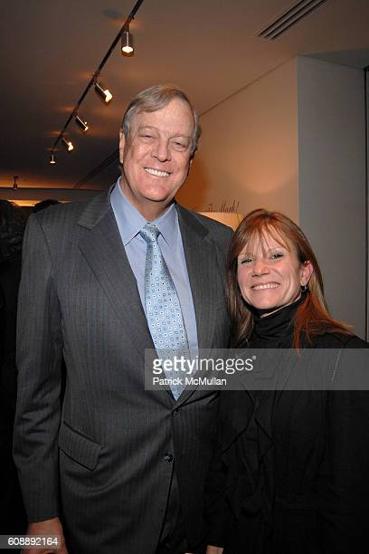David Koch and Stephanie Valentine attend Party for SANDY HILL New Lifestyle Book FANDANGO at Galerie Mark on November 19 2007 in New York City