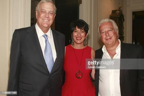 David Koch Ghislaine Maxwell and Aby Rosen attend Christine Steve Schwarzman Host a Private Evening to Celebrate Anna Netrebko's New Album Verdi at...