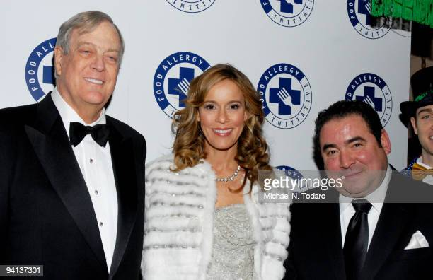 David Koch Julia Koch and Emeril Lagasse attend the 2009 Annual Food Allergy Ball at The Waldorf=Astoria on December 7 2009 in New York City