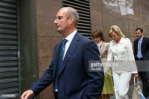 David Koch Natalie Barr and Melissa Doyle from Channel 7's Sunrise team leaving the Magistrate's Court today They're facing charges for a report they...
