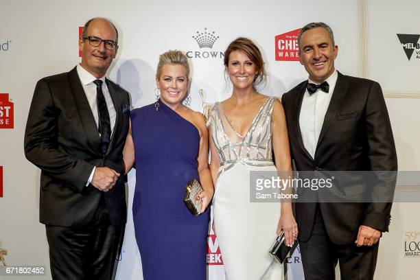 David Koch Samantha Armytage Natalie Barr and Chris Reason arrives at the 59th Annual Logie Awards at Crown Palladium on April 23 2017 in Melbourne...