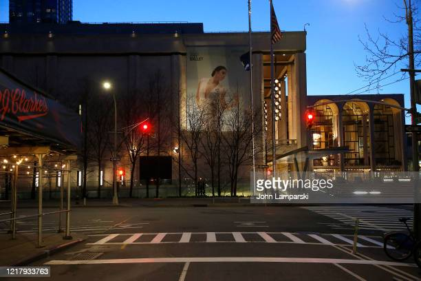 David Koch Theater in Lincoln Center is closed amid the coronavirus pandemic on April 9 2020 in New York City COVID19 has spread to most countries...