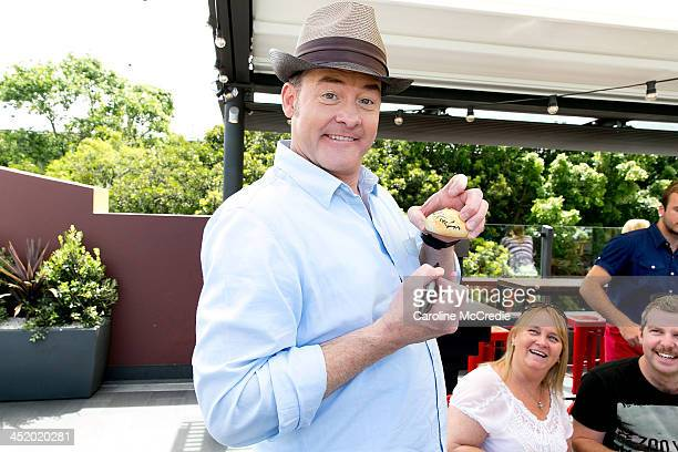 David Koechner attends the Anchorman 2 The Legend Continues sausage sizzle fan event on November 26 2013 in Sydney Australia
