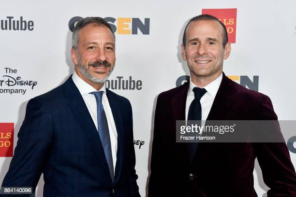 David Kohan and Max Mutchnick at the 2017 GLSEN Respect Awards at the Beverly Wilshire Four Seasons Hotel on October 20 2017 in Beverly Hills...