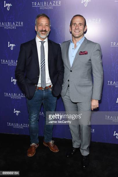 David Kohan and Max Mutchnick attend the Logo's 2017 Trailblazer Honors event at Cathedral of St John the Divine on June 22 2017 in New York City