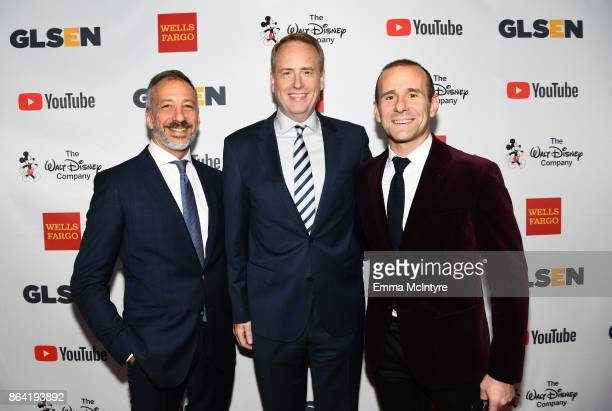 David Kohan honorary cochair Robert Greenblatt and Max Mutchnick at the 2017 GLSEN Respect Awards at the Beverly Wilshire Four Seasons Hotel on...