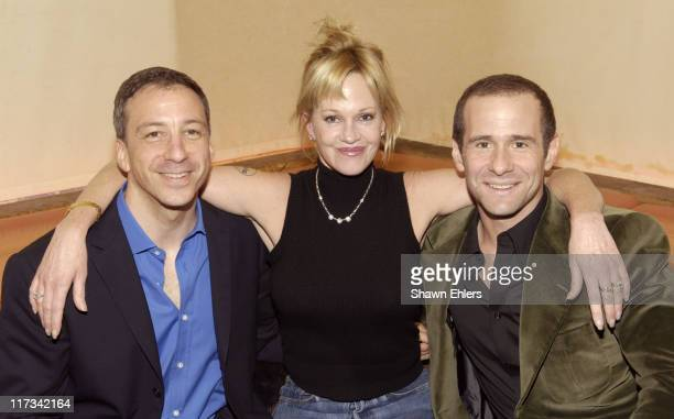 David Kohan Melanie Griffith and Max Mutchnick during David Kohan and Max Mutchnick Celebrate Their Shows 'Twins' 'Four Kings' and 'Will and Grace'...