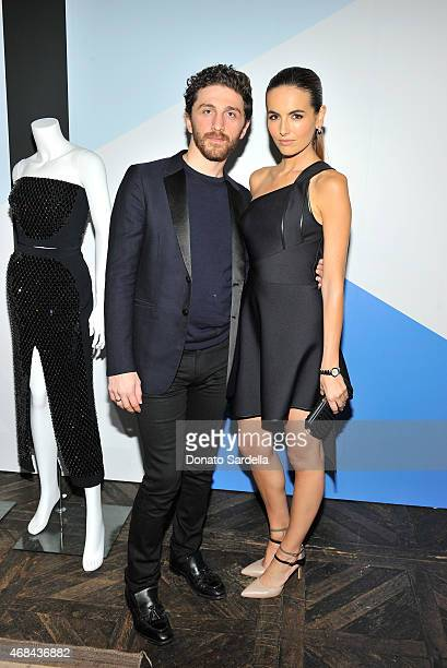 David Koma and Camilla Belle attend FORWARD by Elyse Walker David Koma dinner on April 2 2015 in West Hollywood California