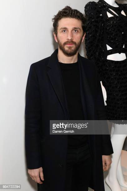 David Koma attends Atelier Swarovski 10th Anniversary Book Launch at Phillips Gallery on March 19 2018 in London England