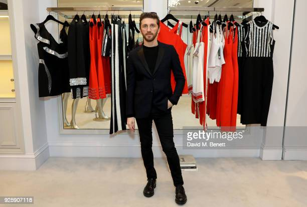 David Koma attends the David Koma SS18 collection presentation at 29 Lowndes on February 28 2018 in London England