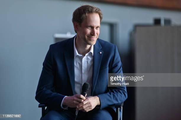 David Korins attends the Hamilton The Exhibition world premiere at Northerly Island on April 26 2019 in Chicago Illinois