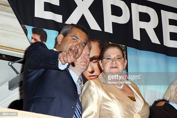 David Kornberg and Arlene Weiss ring the opening bell at the New York Stock Exchange on May 14 2010 in New York City