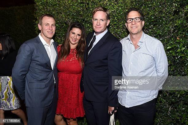 David Kramer Charlotte Blechman David Flynn and Robert Offer attend Paris Photo Los Angeles UTA Reception at Paramount Studios on April 30 2015 in...