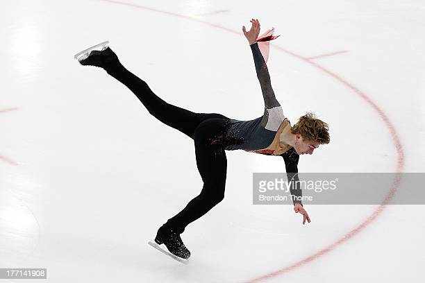 David Kranjec of Australia competes in the Senior Mens Short Program during Skate Down Under at Canterbury Olympic Ice Rink on August 21 2013 in...