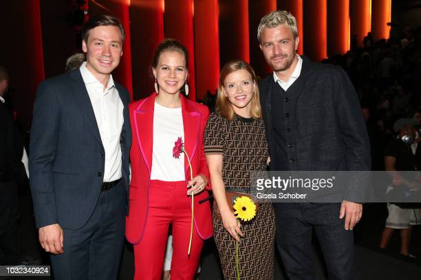 David Kross Alicia von Rittberg Karoline Schuch Friedrich Muecke during the premiere of the film 'Ballon' at Mathaeser Filmpalast on September 12...