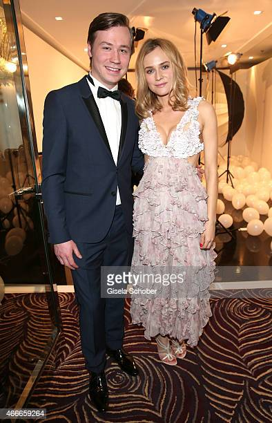 David Kross and Diane Kruger during the PEOPLE Magazine Germany launch party at Waldorf Astoria on March 17 2015 in Berlin Germany