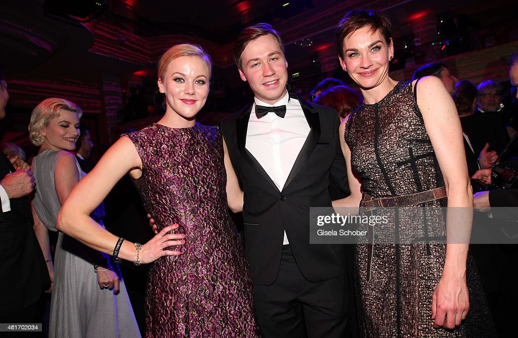 David Kross and his girlfriend Anges Lindstroem , Christiane Paul during the German Filmball 2015 at Hotel Bayerischer Hof on January 17, 2015 in Munich, Germany.