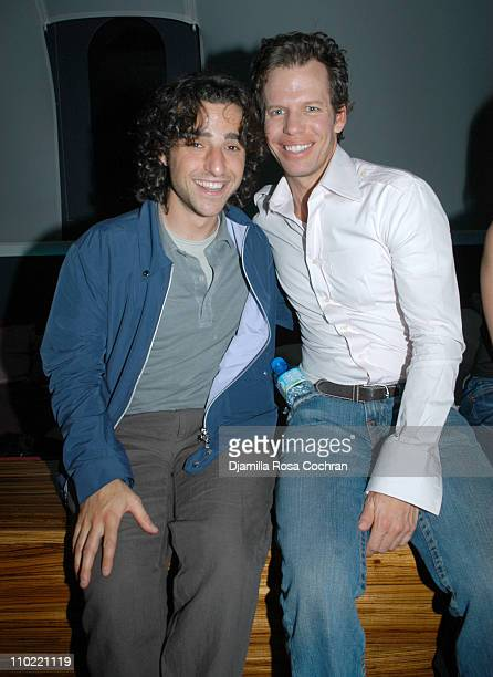 David Krumholtz and Chuck James during The Gersh Agency and Gotham Magazine Celebrate 2005 New York UpFronts at Bed in New York City New York United...