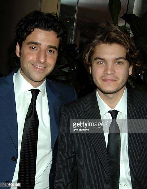David Krumholtz and Emile Hirsch during 64th Annual Golden Globe Awards Lobby Arrivals at Beverly Hilton in Beverly Hills California United States