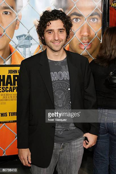 David Krumholtz attends the premiere of New Line Cinema's 'Harold Kumar Escape From Guantanamo Bay' at the Cinerama Dome on April 17 2008 in...