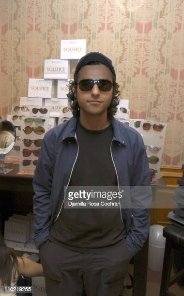 David Krumholtz wearing Dior 00345 during Solstice Sunglass Boutique at the Lucky/Cargo Club Day 1 at Ritz Carlton in New York City New York United...