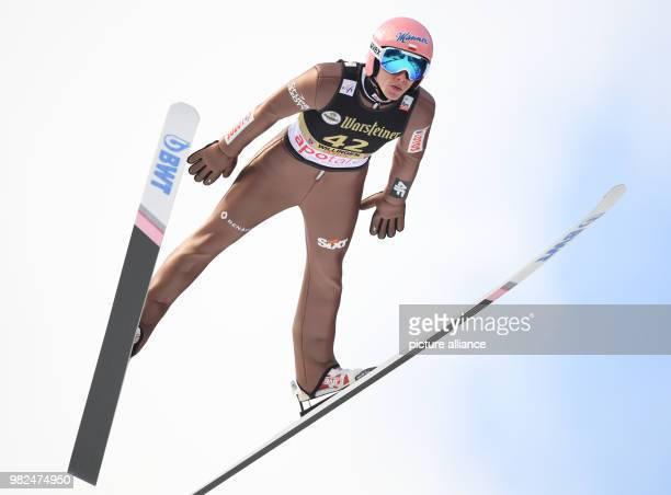 David Kubacki of Poland in action during a training run at the FIS Ski Jumping World Cup in Willingen Germany 03 February 2018 Photo Arne Dedert/dpa
