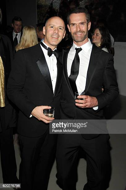 David Kuhn and Rupert Everett attend BLOOMBERG 2008 WHITE HOUSE CORRESPONDENT'S DINNER AFTERPARTY at Embassy of Costa Rica on April 26 2008 in...