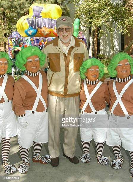 David L Wolper with the Oompa Loompas during USC School of Cinema Presentation of 'Willy Wonka The Chocolate Factory' at Eileen L Norris Cinema...